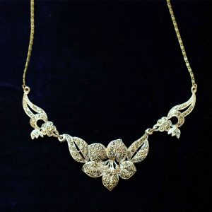 Lavalier necklace marcasite stunning