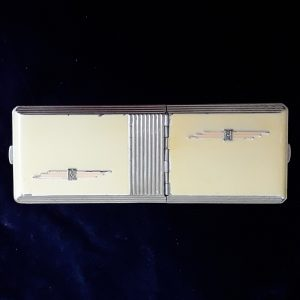Art deco cigarette case and compact