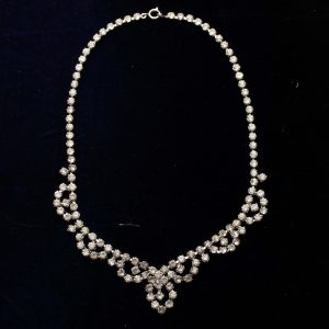 Sparkly cocktail necklace, art deco necklace, prom necklace