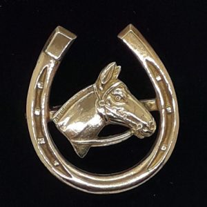 Horseshoe Brooch with horse's head