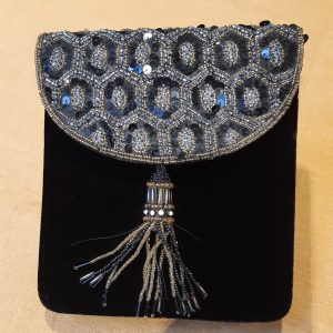 tasselled evening bag
