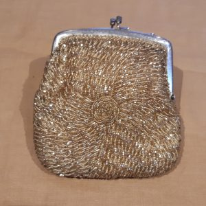 Gold beaded bag