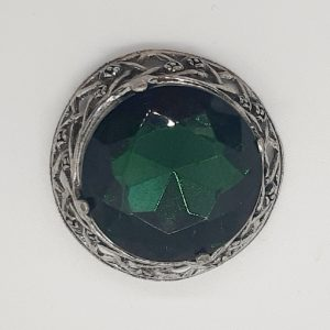 green celtic brooch