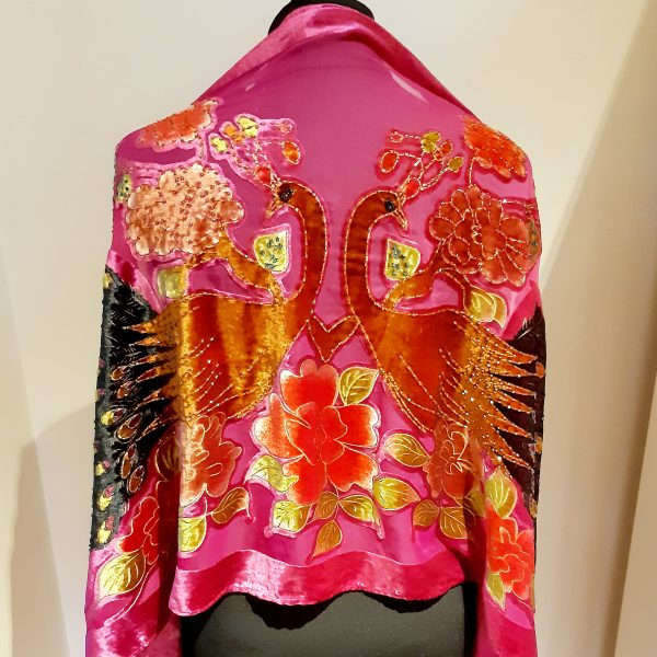 pink beaded stole