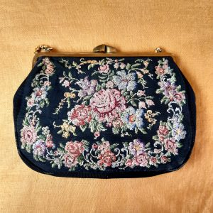 Antique tapestry evening bag